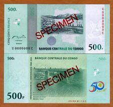 SPECIMEN, Congo D. R. 500 Francs, 2010 P-100s, UNC > Commemorative