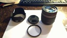 SIGMA ZOOM DC 18 - 200mm 1:3.5 - 6.3 CAMERA LENS & UV FILTER & HOOD FOR CANON