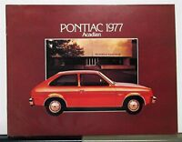 1977 Pontiac Acadian Canadian Sales Brochure & Specifications