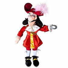 "DISNEY STORE Authentic Original Captain Hook 19"" Stuffed Plush Toy Peter Pan"