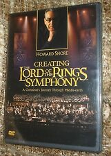 CREATING THE LORD OF THE RINGS SYMPHONY DVD, NEW AND SEALED, HOWARD SHORE