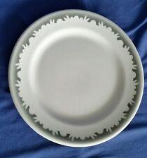 Shenango Crest China Restaurant Ware Plate White Ironstone Scroll Gray Vintage