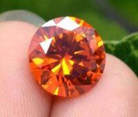 10.19ct AAAAA 12mm Round Padparadscha Sapphire Diamonds Cut VVS Loose Gemstone