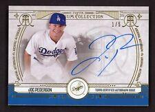 2015 Topps Museum GOLD Joc Pederson RC Rookie 1/5 Signed AUTO Dodgers