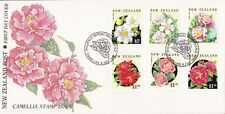 NZFD934) NZ 1992 Camellia Stamp Issue Flower cachet FDC