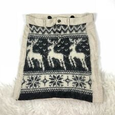 Free People skirt Stretch French Terry Wool Alpaca Nordic Reindeer size 2 Small