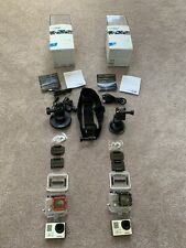 2 GoPro HERO 3+ Plus Silver Edition IR NV 1080P 10MP HD Cameras SanDisk & More!