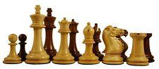 "Paul Morphy Series Premium Staunton 3.5"" Chess Pieces in Golden Rose & Box Wood"