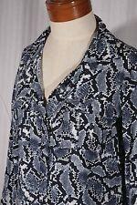 BANANA REPUBLIC Women's Size 6 Snake Print Long-Sleeve Shirt Dress w/Pockets