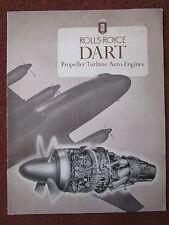 PLAQUETTE ROLLS-ROYCE DART PROPELLER TURBINE AERO ENGINES 1952 THIRD EDITION