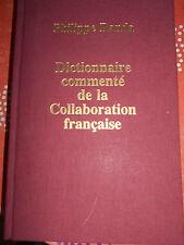Dictionnaire commenté de la collaboration française Philippe Renda dédicacé TL