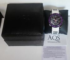 AQUASWISS Chronograph Swiss Quartz Large 50 MM Watch Stainless Steel PURPLE NEW