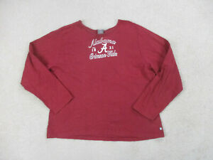 Starter Alabama Crimson Tide Shirt Womens Extra Large Red White Football Ladies