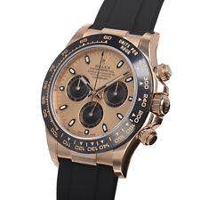 Rolex Daytona 116515 Mens Everose Gold Oysterflex Ceramic Bezel Pink Index Dial