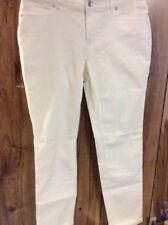 New Cato Contemporary White Denim Jeans Size 8 Skinny.