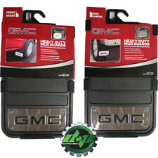 GMC heavy duty 12x23 mud guards flaps mudflaps stainless steel gm SET of 4 new