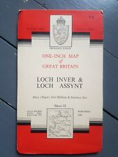 Assynt & Loch Inver 1962 update Map Ordnance Survey seventh series VGC Scotland