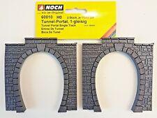 NOCH 60010 H0, 2 Stück Tunnel-Portale, 1-gleisig, je 110 x 110 mm, Neu