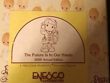 Enesco Precious Moments Porcelain Figurine The Future is in Our Hands 2000 #7300