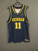 Michigan Wolverines Jersey LARGE Basketball Shirt Mens Trikot Camiseta Nike ig93