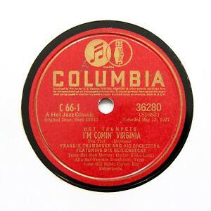 "FRANKIE TRUMBAUER ORCHESTRA (Bix) ""I'm Comin' Virginia"" (EE+) COLUMBIA [78 RPM]"