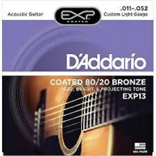 4 Pack D'Addario EXP13-3D Acoustic Guitar Strings 80/20 Bronze 11-52