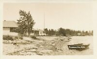 PRUDENVILLE MI – Prudenville View Real Photo Postcard rppc - 1929
