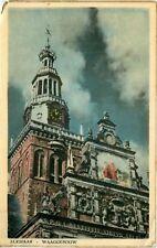 Postcard Waaggebouw, Alkmaar, Netherlands - used in 1955