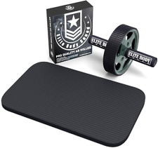 Pro Quality Ab Wheel with Free Soft Kneeling Mat Thick Foam Handles New