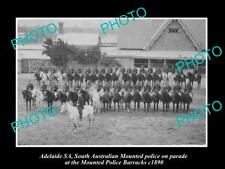 OLD LARGE HISTORIC PHOTO OF ADELAIDE, SOUTH AUSTRALIA MOUNTED POLICE PARADE 1890