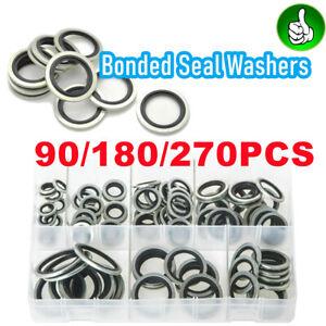 90pcs Bonded Seal Washers Kit Zinc Plated Assorted Sizes M3 to M25 Set