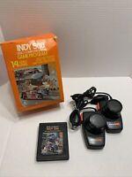 Atari 2600 - Indy 500 - w/ big box, game, two driving controllers