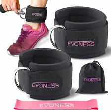 Ankle Straps for Cable Machines & Resistance Band Plus Carry Bag Premium Fitness