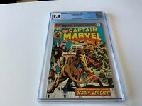 CAPTAIN MARVEL 39 CGC 9.4 WHITE PAGES THE WATCHER APPEARANCE MARVEL COMICS