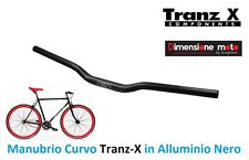 0081 - Manubrio Curvo Tranz-X Alluminio 6061-T6 Nero per Bici 26-28 Single Speed