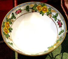 Antique Early 1900's Hand Painted Nippon Small Footed Dish Gold and Beaded Trim