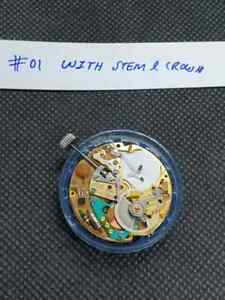 ESA ETA cal. 9154 Dynotron Electric Watch Movement Running for Repair Parts #01