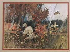 RARE ART print FROM ROY m MASON friend of N.C. Wyeth hunting scene
