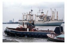 SL0932 - London Tug - Grey Lash & Cargo Ship - Arya Pake - photograph 6x4