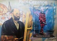 G)2012 BURUNDI, PAUL CEZZANE, PAINTINGS-STILL LIFE-HARLEQUIN, SOUVENIR SHEET, MN