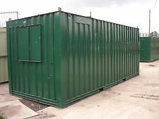 21ft x 8ft Anti Vandal Office / Storage Container - Green - 50 / 50 split