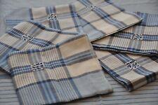 """Blanc bleu Vichy Gingham check rectangulaire 54x72 /"""" 137x183cm linge de table"""