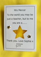 Teacher Gift Sterling Silver Personalised Star Earring Saccos