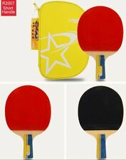 Genuine DHS A2007 Short Handle Table Tennis Paddle Racket Bat PF4-1/C7 Rubber