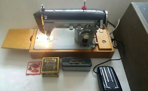 Vintage Novum Zig Zag Sewing Machine with Foot Pedal Base Accessories Working