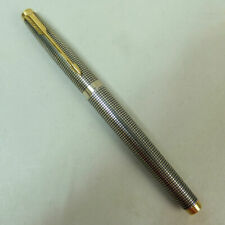 FINE STERLING SILVER PARKER 'CISELLE' FOUNTAIN PEN 14K GOLD NIB