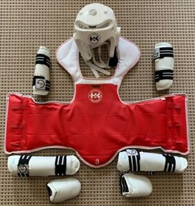 Kids Tae Kwon Do sparring gear Full Set - with carrying Pack youth medium