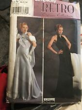 Simplicity Sewing Pattern 8817 Vintage Retro Halter Gown Size N 10,12,14