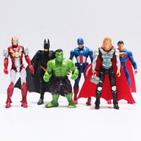 6PC Marvel Avengers Super Hero Batman Spiderman Iron Man Hulk Thor Action Figure