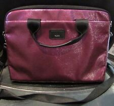 Tumi Purple Soft Laptop Computer Travel Case with Straps